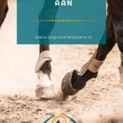 paard tikt aan, aantikken, stoten, aanraken achterbenen